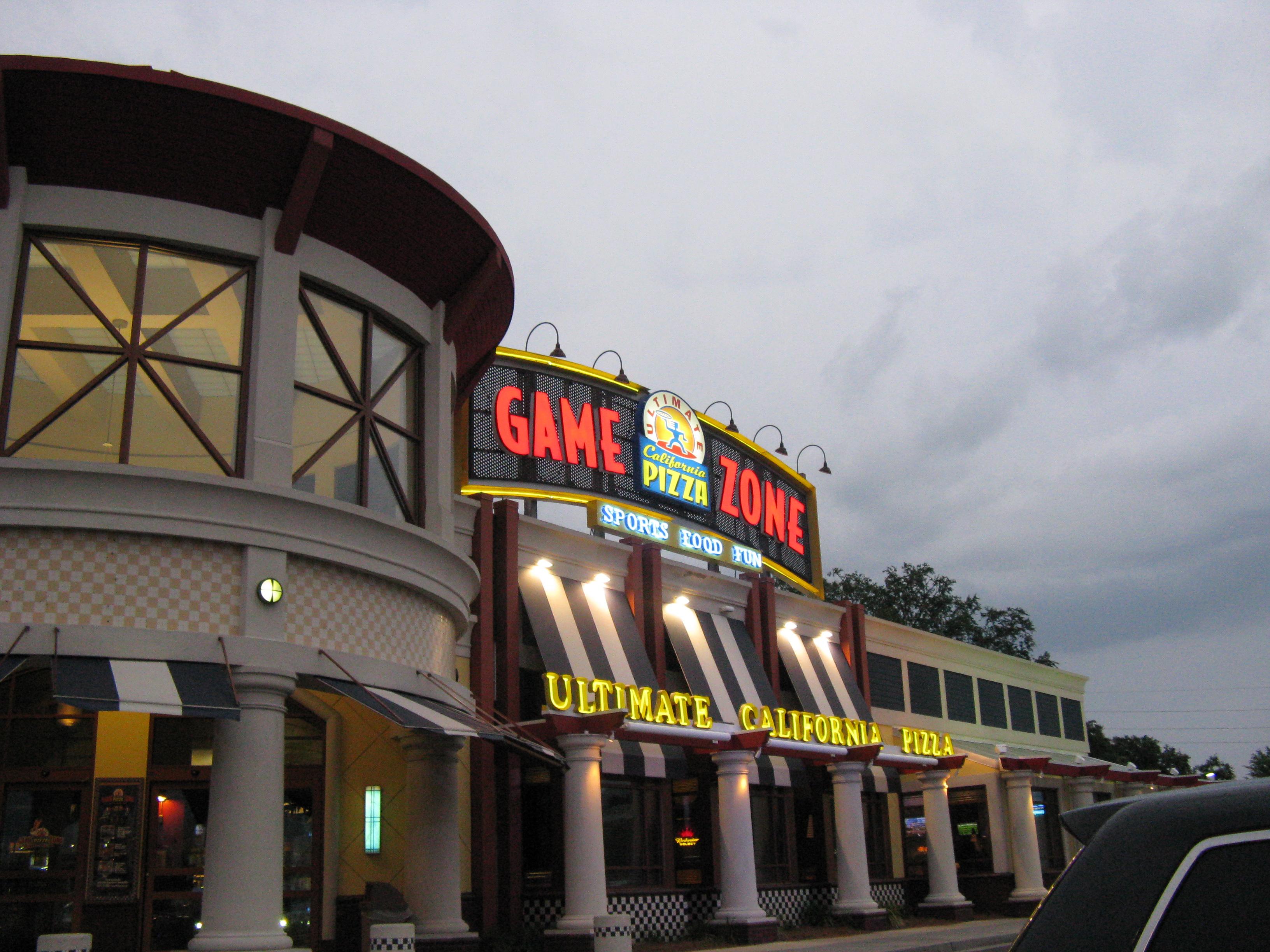 California Pizza Kitchen Game Zone Myrtle Beach