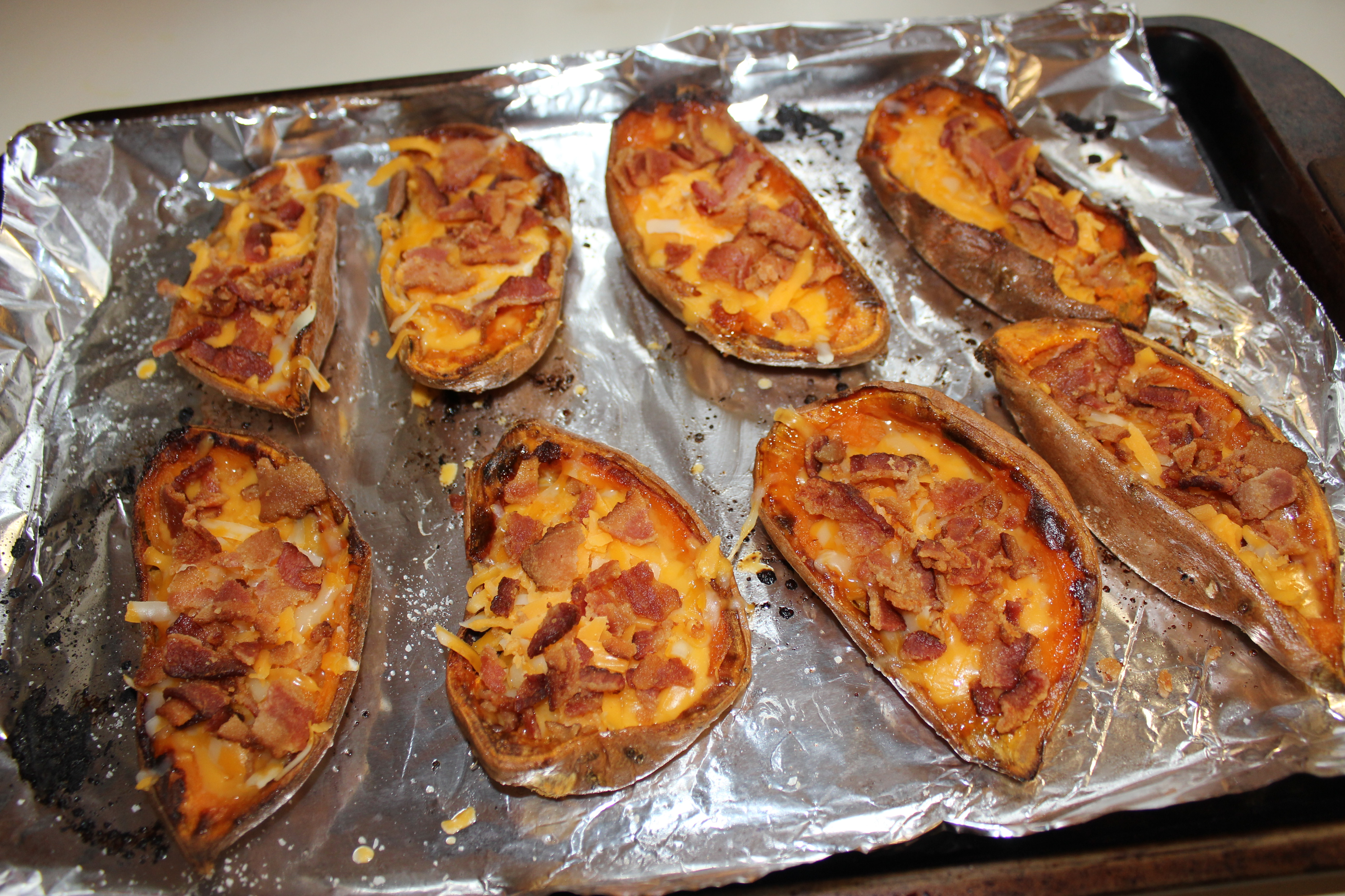 Potato Skins With Cheddar And Bacon Recipes — Dishmaps