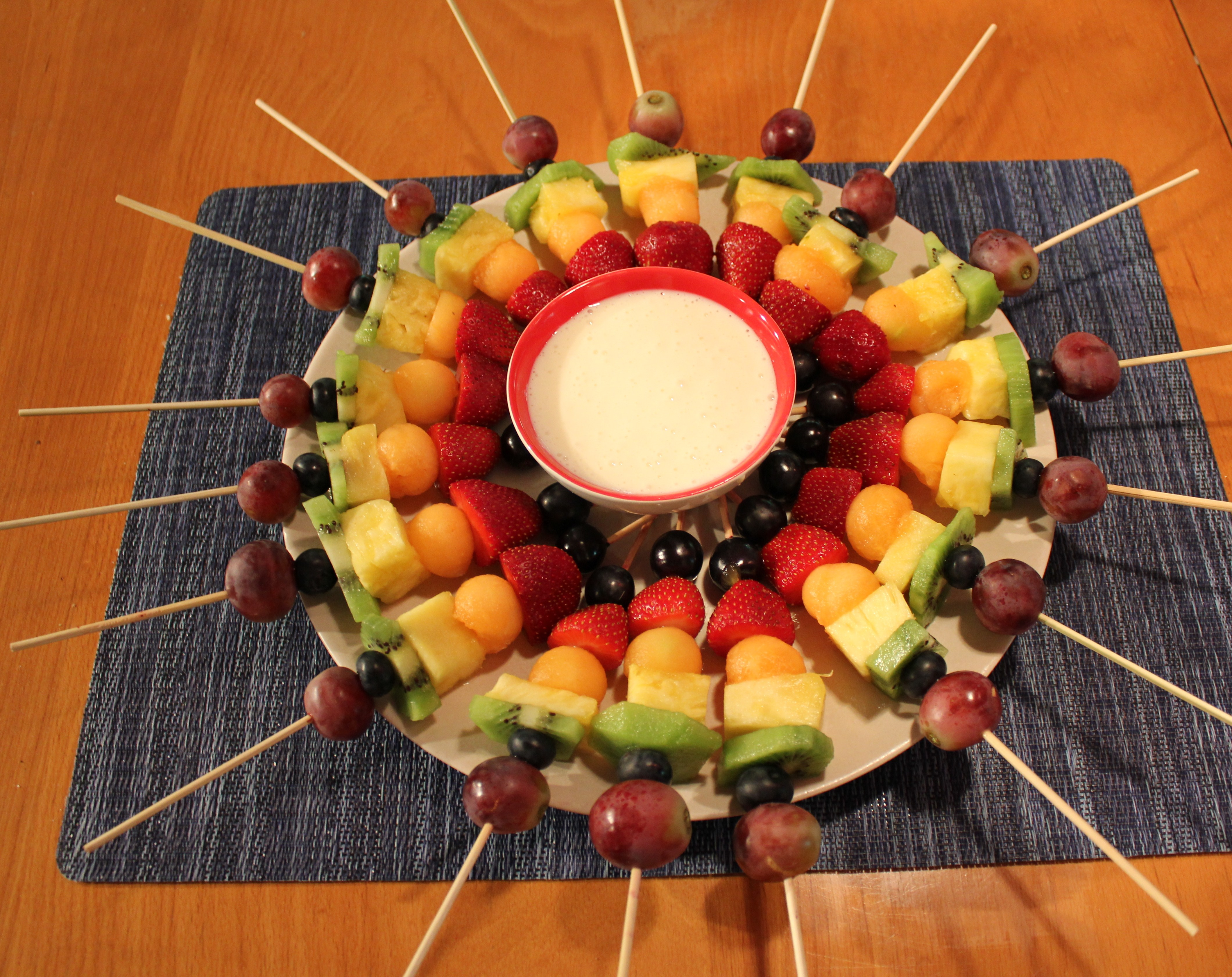 ... Month, June 2012: Rainbow Fruit Kabobs with Cream Cheese Dipping Sauce