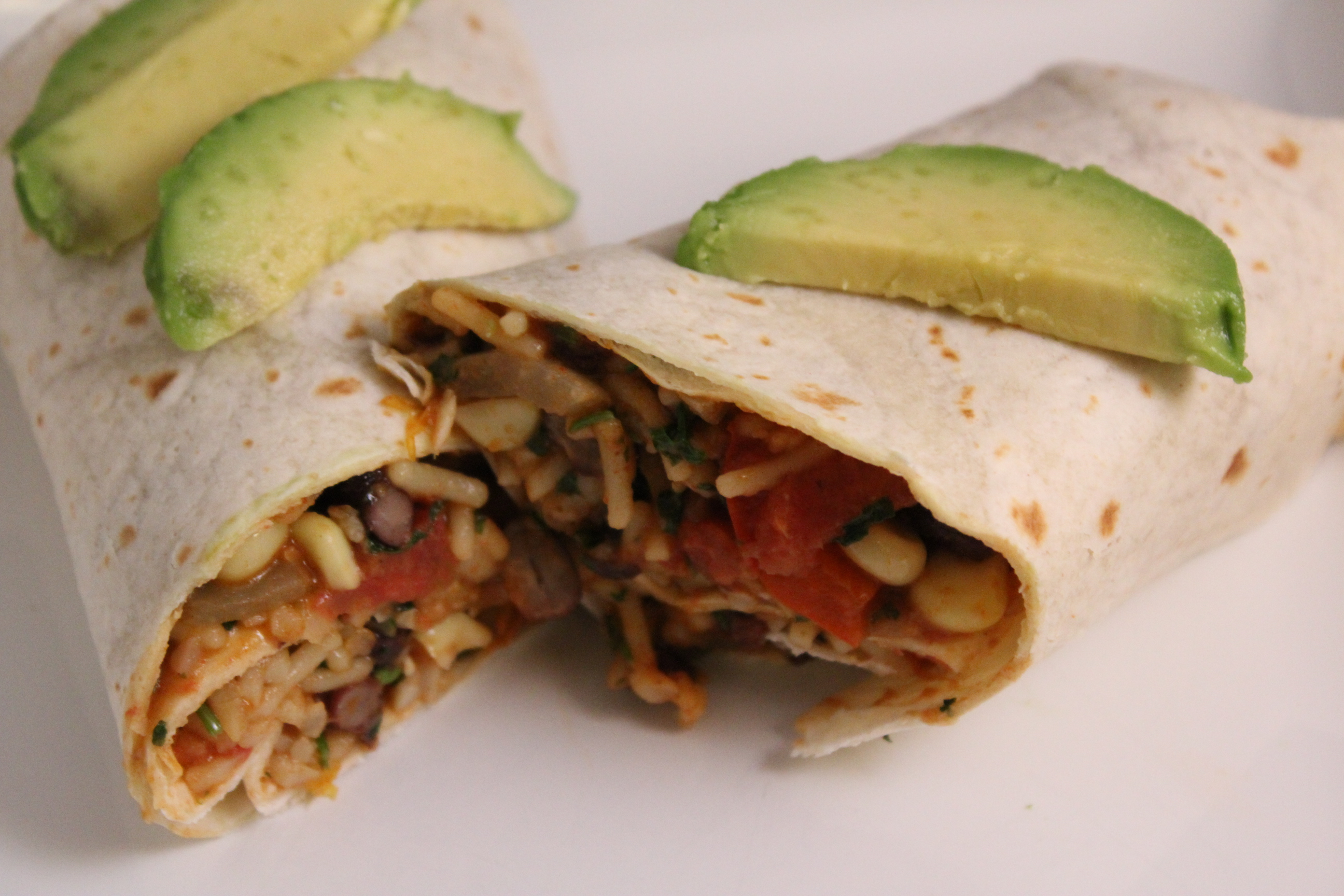 Corn, Black Bean and Rice Burritos