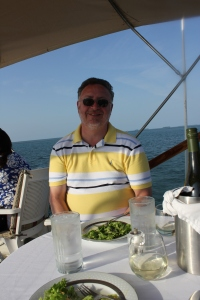Brad eating salad