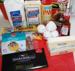 Brownie ingredients