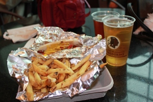 Sausage and fries and beer, oh my!