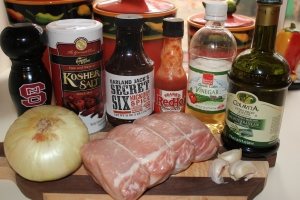 Tangy Pork Roast ingredients