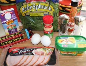 Baked egg casserole ingredients