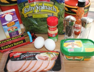 Baked egg casserole ingredients