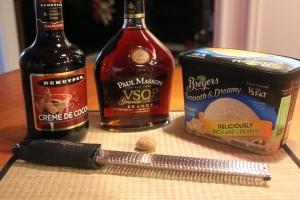 Brandy Alexander with ice cream ingredients