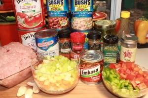 Chipotle Turkey Chili ingredients