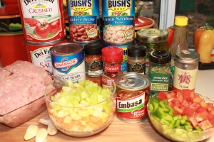 Chipotle Turkey Chili ingredients