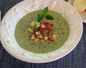 Cucumber melon soup