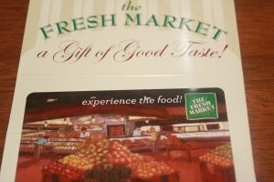 Fresh Market gift card