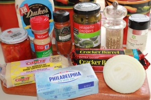Kel's pimento cheese ingredients