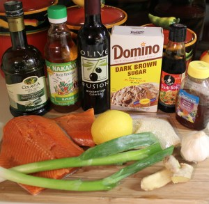 Toasted Sesame Ginger Salmon ingredients