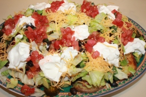 Garnish with sour cream