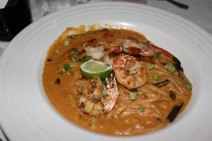 Spicy Thai Noodles with Shrimp, Elk River Restaurant