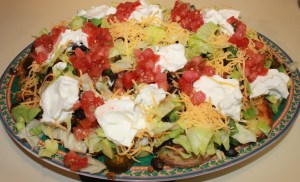Yukon Gold loaded potato nachos