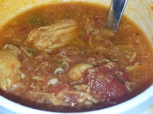 chicken gumbo soup from Community Deli