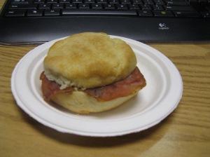 Community Deli Ham biscuit