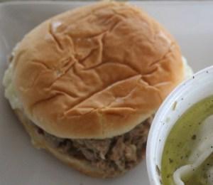 Community Deli's BBQ sandwich