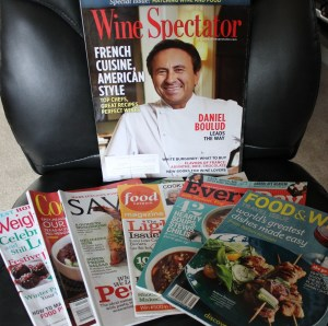 Food and wine magazines