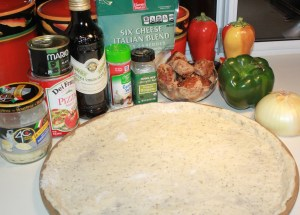 Kel's Italian pizza ingredients