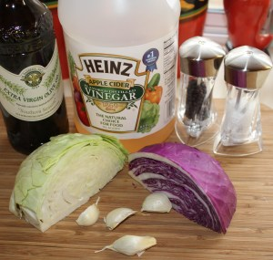 Kel's red and green cabbage ingredients