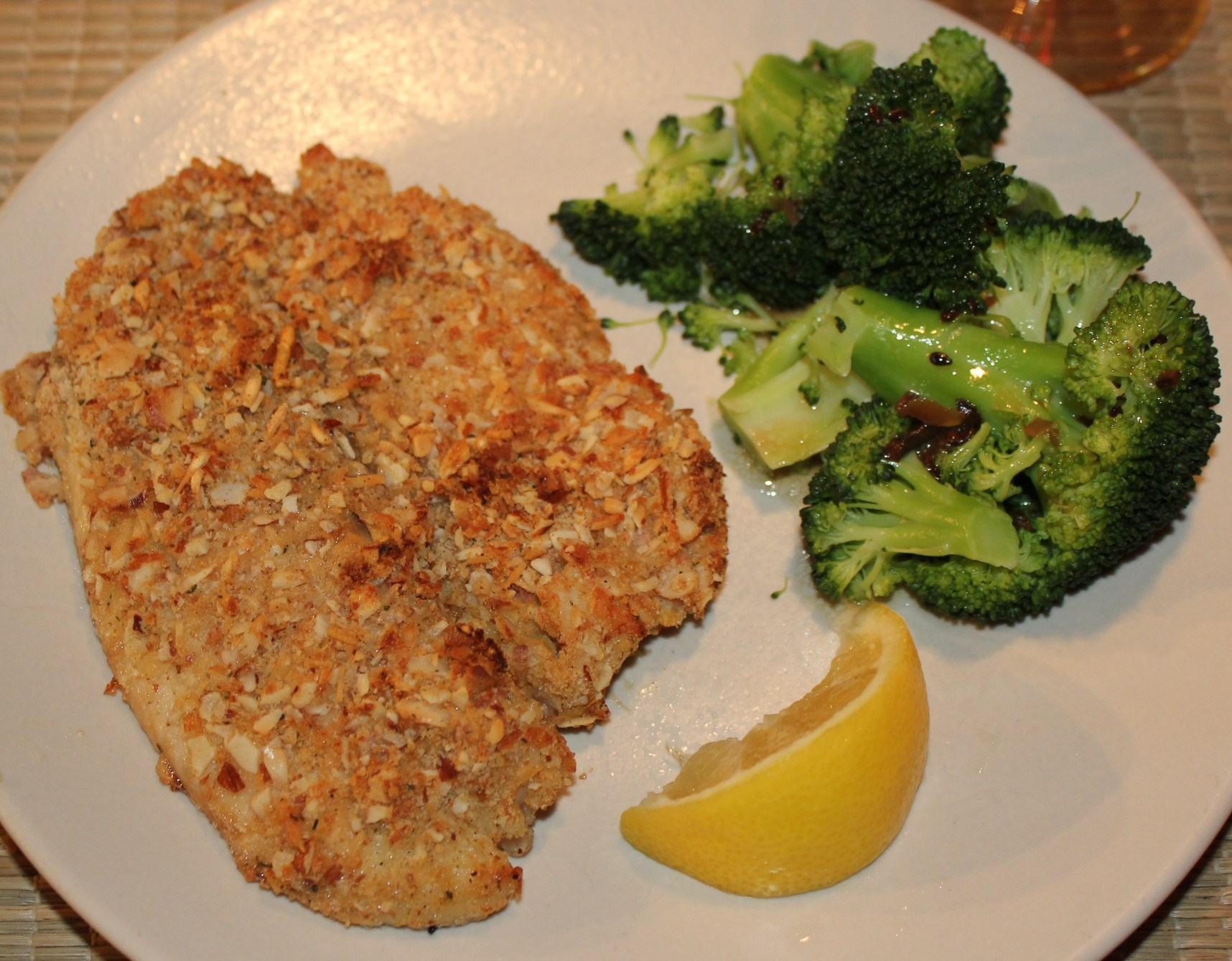 Almond parmesan encrusted tilapia recipe | Kel's Cafe of All Things ...