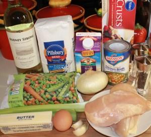 Mini pot pie ingredients