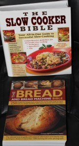 Slow cooker and bread machine cookbooks