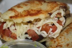 Guasaca's Grilled chicken arepa