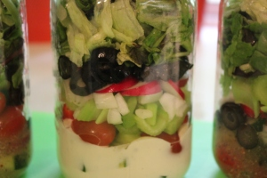 Salad in a jar with Ranch