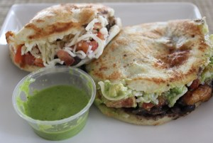 Two arepas = too much at once!