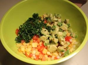 Add avocado and cilantro