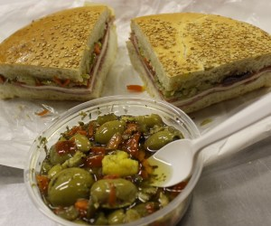 Central Grocery mufaletta and olive salad