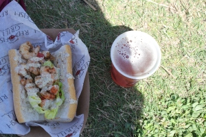 Festival food from Red Fish Grill