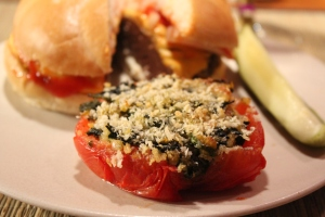 Kel's Stuffed tomato side dish