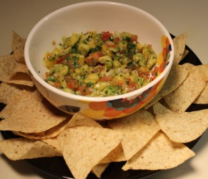 Let's eat pineapple tomato salsa