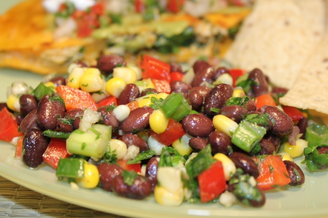 Kels' basic black bean salad