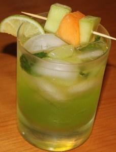 Kel's cucumber melon mojito
