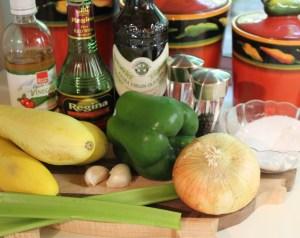Marinated Yellow Squash ingredients