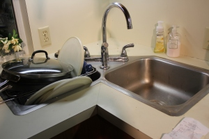 Never have a corner sink