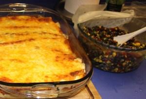 Serve enchiladas with black bean salad