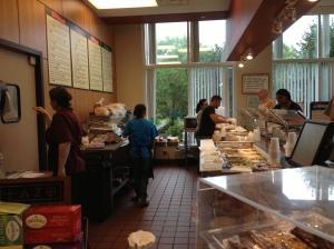 Behind the counter at Glenlake Cafe