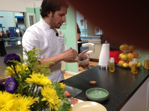 Chef Poli at Expo booth