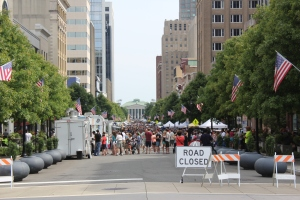 Crowds at the Raleigh Food Truck Rodeo