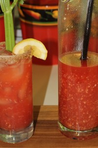Kel's homemade Bloody Marys