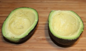 Scoop out avocados