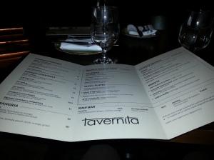 Tavernita brunch menu