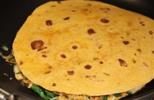 Top with remaining tortilla