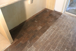 Brick tiles relaid